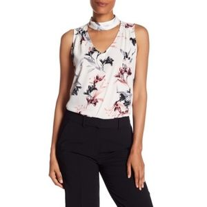 Vince Camuto | NWT Mock Neck Floral Print Blouse